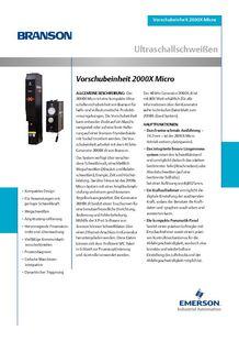 Vorschubeinheit 2000X Micro - BRANSON ULTRASONS, MACHINES DE SOUDAGE DES PLASTIQ