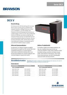 Serie DCX-S für automatisierte Schweißanwendungen - BRANSON ULTRASONS, MACHINES DE SOUDAGE DES PLASTIQ