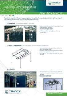 Product Catalog TRANSITIC - TRANSITIC - INTRALOGISTIC SYSTEMS