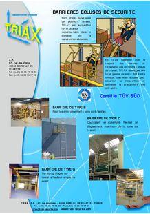 Flyer Sicherheits-Schleusengeländer / Palettenschleuse - TRIAX